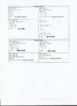 Multiple Step Inequalities Puzzle - Solve and Match Pieces