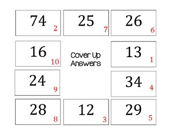 Multiple Step Multiplication Word Problems- Cover Up