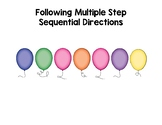 Multiple Step Sequential Directions