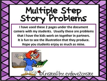 Multiple Step Story Problems {FREE}