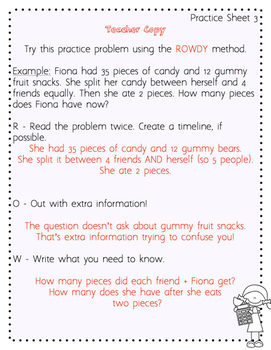 Multiple-Step Word Problem Power Pack