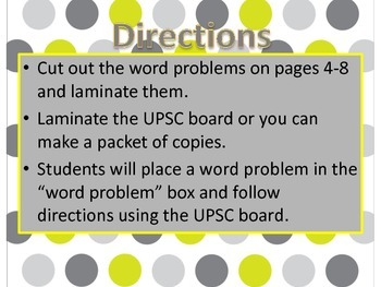 Multiple Step Word Problems All Operations UPSC