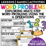 Multiple Step Word Problems   Math Test Prep   Task Cards