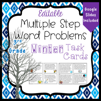 Multiple Step Word Problems for the Winter - 3.OA.8