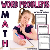 Multi-Step Math Word Problems  for 3rd, 4th, and 5th