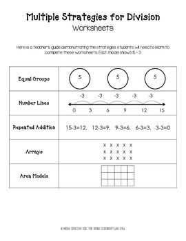 Multiple Strategies for Division Set