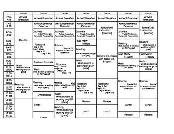 Multiple student lesson plan template by my specialized class tpt multiple student lesson plan template saigontimesfo