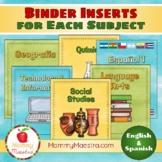 Multiple Subject BILINGUAL Binder Covers