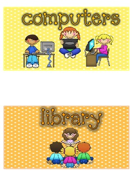 Multiple Subject Header Cards Larger Size