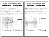 Multiple Transformations Practice Problems