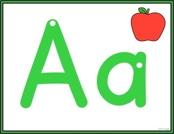 Multiple-Use Alphabet Letters: Wall Posters, Playdough Mats, Cover with Counters