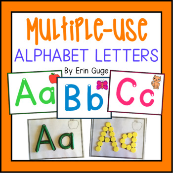 Multiple-Use Alphabet Letters: Wall Posters, Playdough Mat