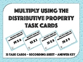 Multiply Using the Distributive Property Task Cards