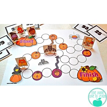 Multiply Whole Numbers Fall Fun Board Game