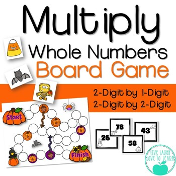 Multiply Whole Numbers Fall Fun Board Game