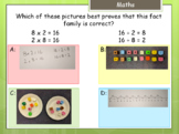 Multiple choice answer card with example (Y3 maths) hinge