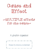 Multiple effects for one cause graphic organizer