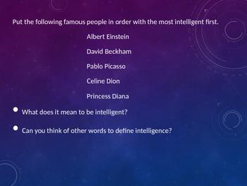 Multiple intelligences power point presentation
