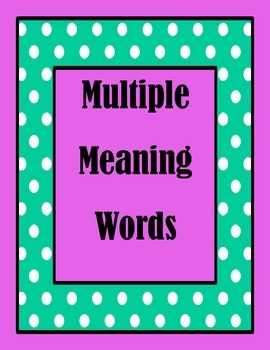 Multiple meaning cards