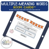 Multiple meaning words Boom Cards™ NO PRINT Distance Learning
