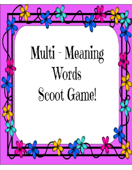 Multiple meaning words scoot
