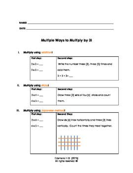 Multiple ways to multiply by three