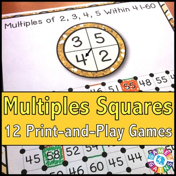 Multiples Activities: 12 Multiples Games
