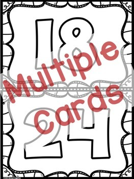 "Factors and Multiples ""Multiples Music Game"" (Examples and Non-Examples)"