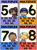 Multiples Posters and Skip Counting For Multiplication Fluency