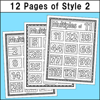 Multiples Coloring Pages