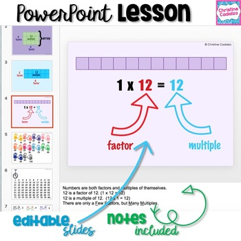 Multiples Digital Lesson & Activities