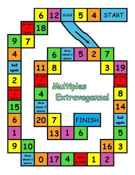 Multiples Extravaganza Game MEGA Bundle- Numbers 1-12, 15, & 20- WORD Form