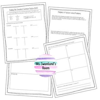 Multiples & Factors Booklet