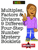 Multiples, Factors & Divisors: Mystery Number Booklets, 4 Step Problem Solving