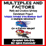 Multiples and Factors Project, Math Creative Writing Project