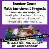 Number Sense Projects, Math for Upper Elementary!  Factors, Multiples, More...