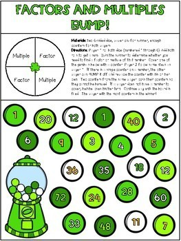 Multiples, Factors, Prime and Composite Numbers Activities