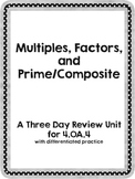 Multiples, Factors, and Prime Composite Review