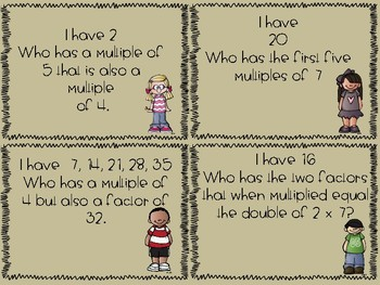 Multiples- I have, Who has