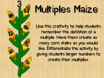 Multiples Maize - A Fall Craftivity for Multiples