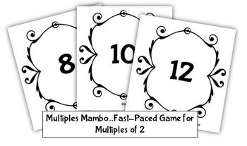 Multiples Mambo Freebie: A Fast-Paced Game for Practicing Multiples of 2
