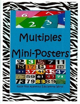 Multiples Mini-Posters for Math Fleuncy