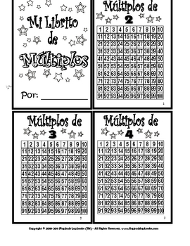 Multiples, Multiplication Individual Book in Spanish