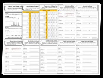 Multiples Pack - 10+ worksheet/printables