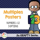 Multiples Posters, Dots, Rainbow Colors, Ink Saver, Multiplication, Facts
