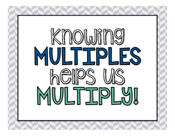 Multiples Posters for 2-12 (blue, green, and grey)