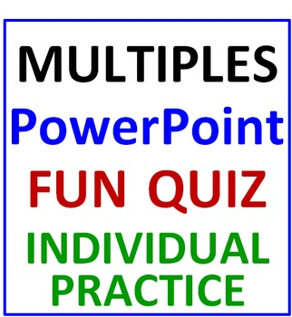 Multiples PowerPoint Fun Quiz (Individual Use)