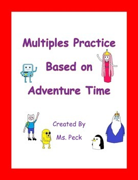 Multiples Practice based in Adventure Time