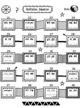 Multiples Squares 40 Examples