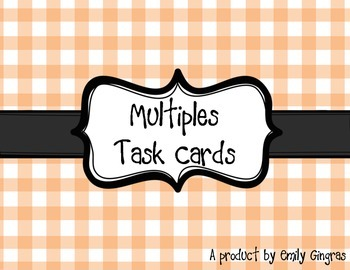 Multiples Task Cards FREEBIE